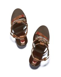 Tory Burch - Multicolor Embroidered Doll Sandal - Lyst