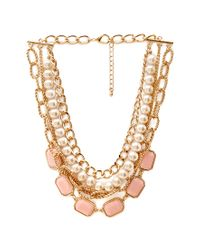 Forever 21 - Pink Streetchic Layered Necklace - Lyst