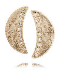 Scosha - Metallic Moon 10-Karat Gold Diamond Earrings - Lyst