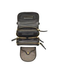 Jérôme Dreyfuss - Momo Black and Nude Perforated Leather Mini Shoulder Bag - Lyst