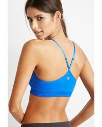 Forever 21 - Blue Low Impact - Seamless Sports Bra - Lyst