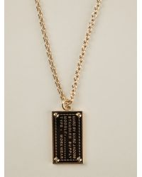 Marc By Marc Jacobs - Metallic 'Standard Supply' Dog Tag Necklace - Lyst