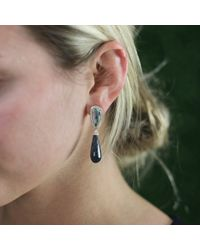 Dana Rebecca | Opal And Black Jade Earrings | Lyst