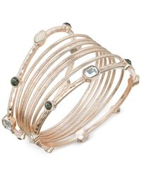 INC International Concepts | Metallic Rose Gold-tone Stone Bangle Bracelet Set | Lyst