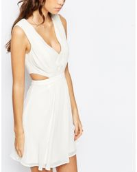 ASOS - White Side Cut Out Mini Dress - Lyst
