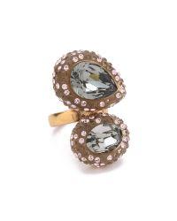 Oscar de la Renta - Metallic Bold Paved Resin Ring - Lyst