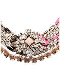 Shourouk | Pink Necklace | Lyst