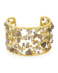 Alexis Bittar | Metallic Elements Confetti Cuff With Spiked Crystals | Lyst
