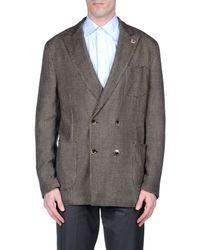 Lardini - Brown Blazer for Men - Lyst