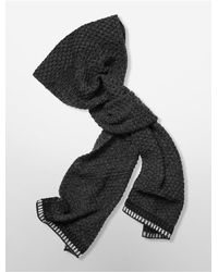 Calvin Klein | Black White Label Twisted Knit Muffler Scarf | Lyst