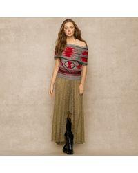 Ralph Lauren Blue Label - Metallic Highlow Sequined Skirt - Lyst