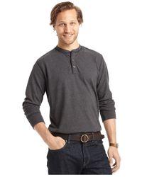 G.H. Bass & Co. | Black Long-sleeve Henley T-shirt for Men | Lyst