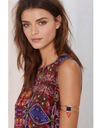 Nasty Gal - Multicolor From St Xavier Keely Lapis Arm Cuff - Lyst