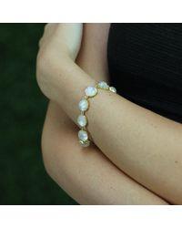 Irene Neuwirth | White Rose Cut Rainbow Moonstone Bracelet | Lyst