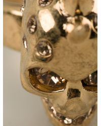 Alexander McQueen   Metallic Mohican Skull Cocktail Ring   Lyst