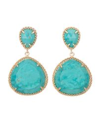 Kendra Scott | Green Penny Post Earrings | Lyst