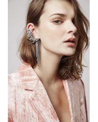 TOPSHOP - Pink Unique Bateman Earrings - Lyst