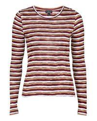 TOPSHOP - Multicolor Tall Stripe Scoop Neck Top - Lyst