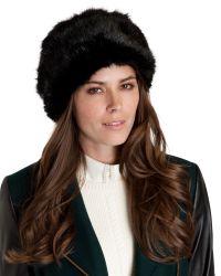 Ted Baker | Blue Karah Faux Fur Cossack Hat | Lyst