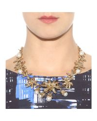 Oscar de la Renta - Metallic Mytheresa.com Exclusive Crystal-embellished Necklace - Lyst
