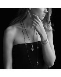 David Yurman - Cable Wrap Earrings with Hampton Blue Topaz and Diamonds - Lyst