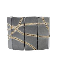 Todd Reed - Metallic Diamond Panel Bracelet - Lyst