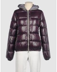 Duvetica - Purple Adhara Hooded Down Jacket - Lyst