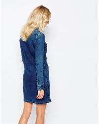 Pepe Jeans - Blue Denim Dress - Lyst