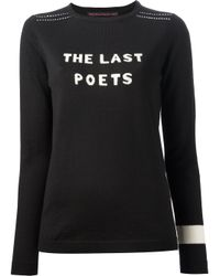 Bella Freud - Black The Last Poets Jumper - Lyst