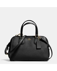 COACH | Black Nolita Satchel In Crossgrain Leather | Lyst