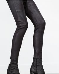 Zara | Black Skinny Trousers | Lyst
