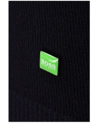 BOSS Green - Blue Sweater 'zime' In A Cotton Blend for Men - Lyst