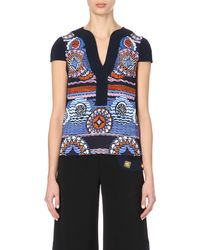 Peter Pilotto - Multicolor Printed Silk Top - Lyst
