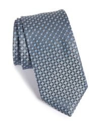 John W. Nordstrom | Gray 'bambino' Geometric Silk Tie for Men | Lyst