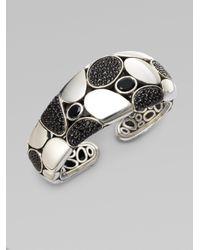 John Hardy - Metallic Black Sapphire, Black Chalcedony And Sterling Silver Bracelet - Lyst