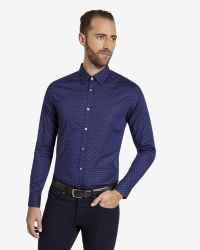 Ted Baker | Blue Fil Coupé Shirt for Men | Lyst