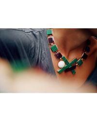 Eshvi - Multicolor Back To School Marble Necklace - Lyst
