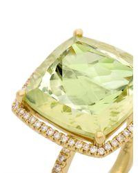 Kiki McDonough - Green Diamond Lemonquartz Gold Ring - Lyst
