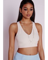 Missguided | Gray Longline Fringe Necklace | Lyst