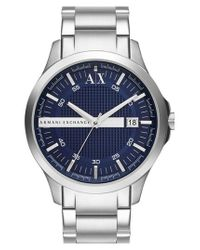 Armani Exchange | Metallic Bracelet Watch for Men | Lyst