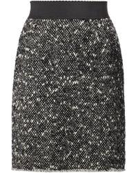 Dolce & Gabbana - Gray Tweed Skirt - Lyst