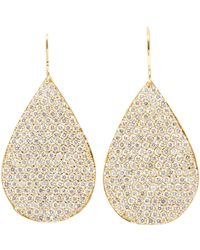 Irene Neuwirth - Green Pear-shaped Drop Earrings - Lyst