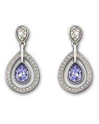Swarovski - Metallic Mila Lavender Crystal Earrings - Lyst