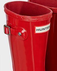 HUNTER - Red Original Kids' Gloss Rain Boots - Lyst