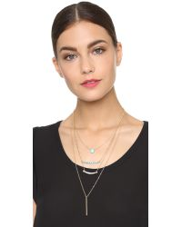 Adia Kibur | Blue Grace Necklace - Aqua/gold | Lyst