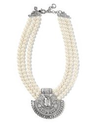Banana Republic | White Deco Necklace | Lyst