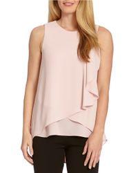 Karen Kane | Pink Layered Drape Top | Lyst