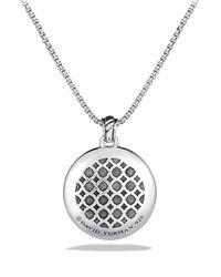 David Yurman - Metallic Labyrinth Small Disc Pendant With Diamonds - Lyst