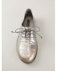 Marsèll - Metallic 'Sacco' Lace-Up Shoes - Lyst
