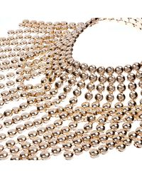 River Island | Metallic Gold Tone Bold Dangle Necklace | Lyst